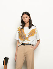 Oversized Printed T-Shirt : T-shirts color Grey