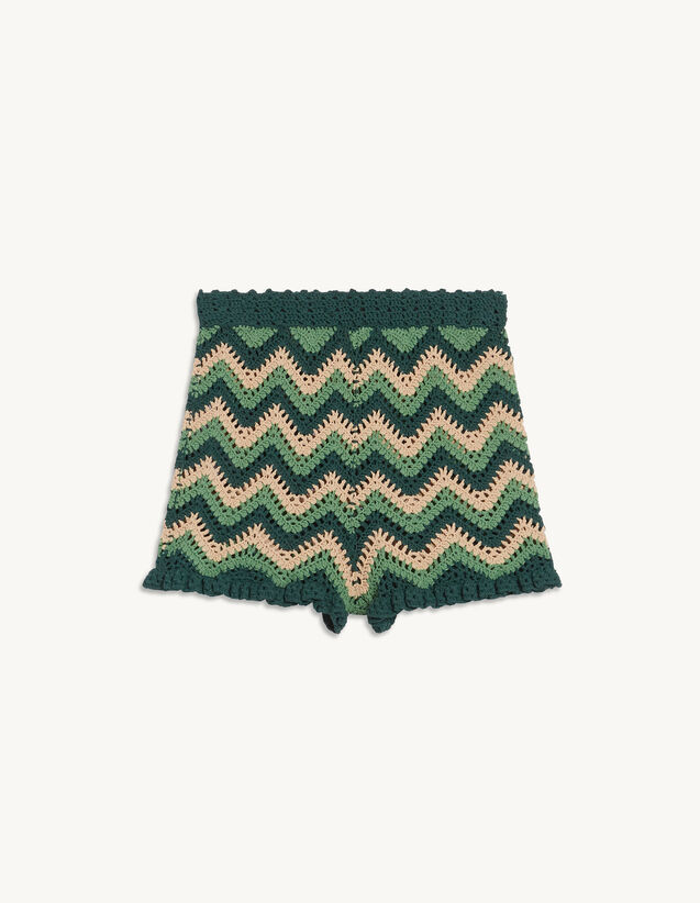Crochet Knit Shorts : Skirts & Shorts color Green