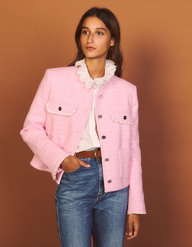 Tweed Jacket : Blazers & Jackets color Pink