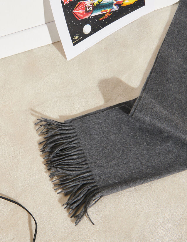 Wool And Cashmere Scarf : Scarves color Charcoal Grey