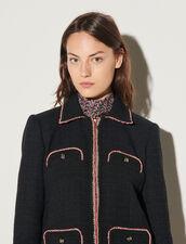 Jacquard Tweed Jacket : Blazer & Jacket color Black