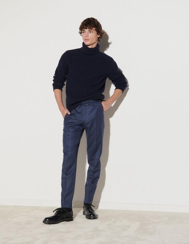 Flannel Trousers : Pants & Shorts color Camel