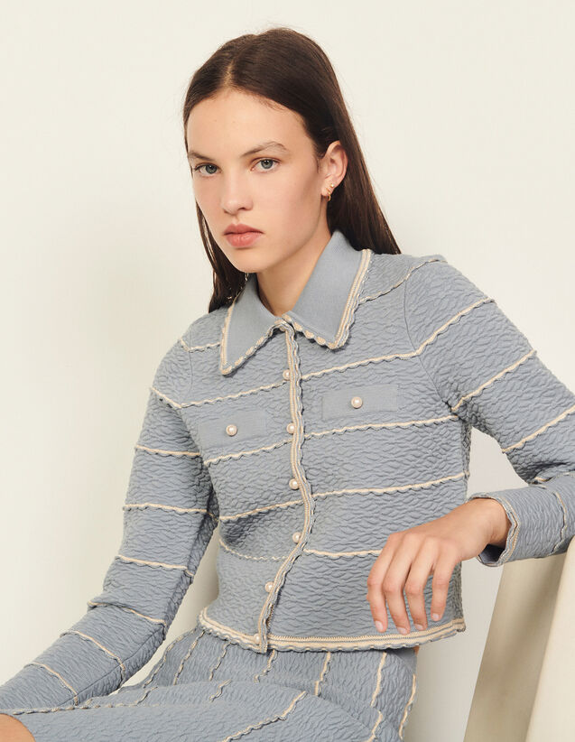 Short Jacket-Style Coatigan : Blazers & Jackets color Black
