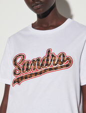 T-Shirt With Sandro Print : T-shirts color white