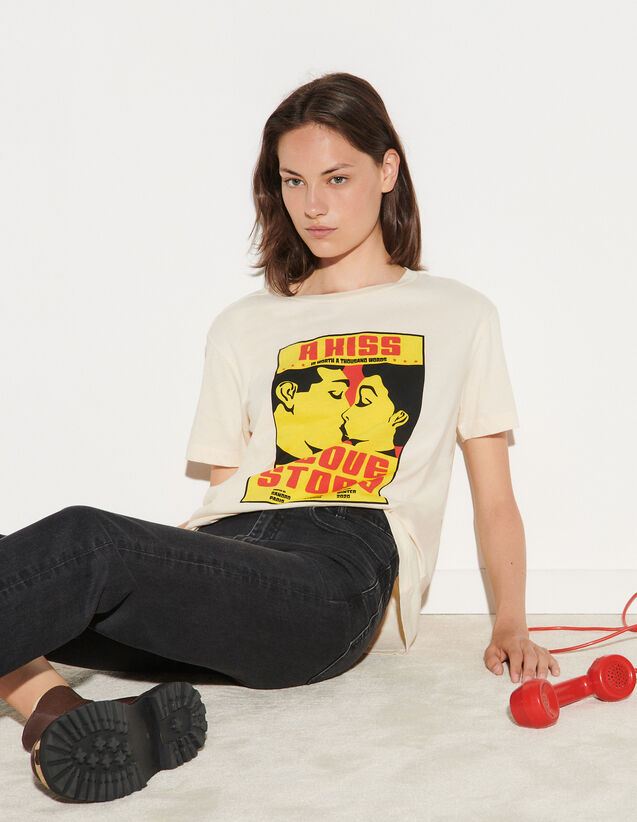 T-Shirt With Images : T-shirts color Light Beige