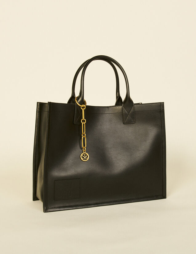Leather Tote Bag With Chain Jewellery : Others Bags color Olive Green