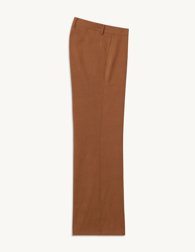 Wool Suit Trousers : Pants & Shorts color Tobacco Brown