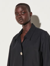 Oversized Shirt With Fancy Button : Shirts color Black
