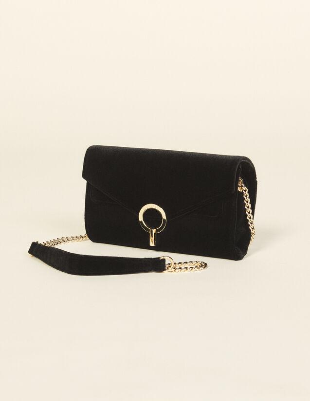 Velvet Clutch Bag : Others Bags color Black