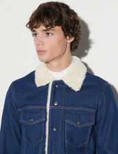 Denim Jacket : Jackets & Coats color Midnight Blue Denim