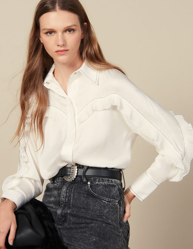 Shirt With Western-Style Cut-Outs : Shirts color Black