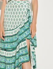Skirt With Layered Ruffles : Skirts & Shorts color Green