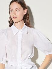 Shirt With Removable Belt : Shirts color Ecru