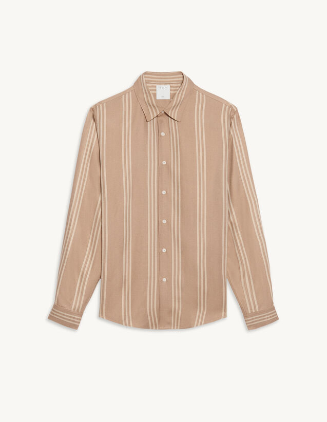 Striped Flowing Shirt : Shirts color Beige