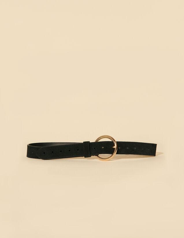 Split Leather Belt : Belts color Black