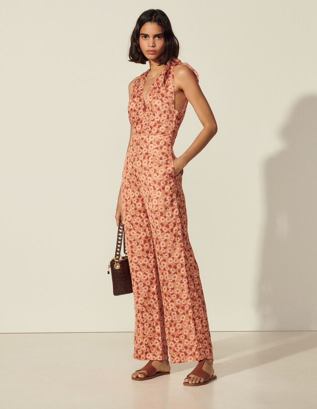 Printed Jumpsuit : View All color Brown