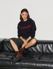 Sweater With Press Studs : Shirts color Navy Blue