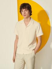 Short-Sleeved Shirt : Spring Summer Collection color Ecru