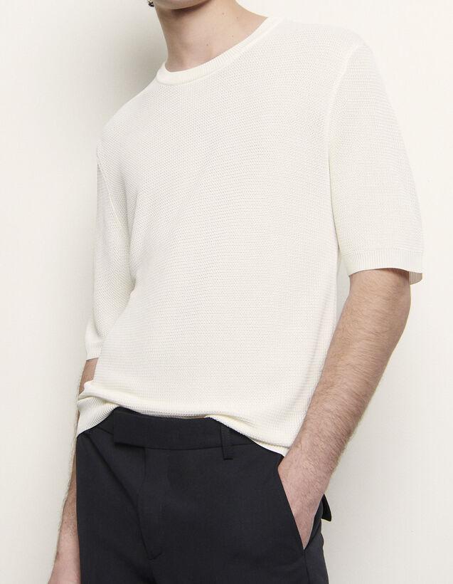 Fancy Knit T-Shirt : T-shirts & Polo shirts color Ecru