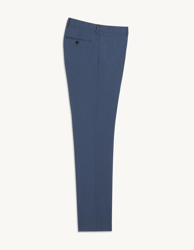 Virgin Wool Suit Trousers : Pants & Shorts color Bluish Grey