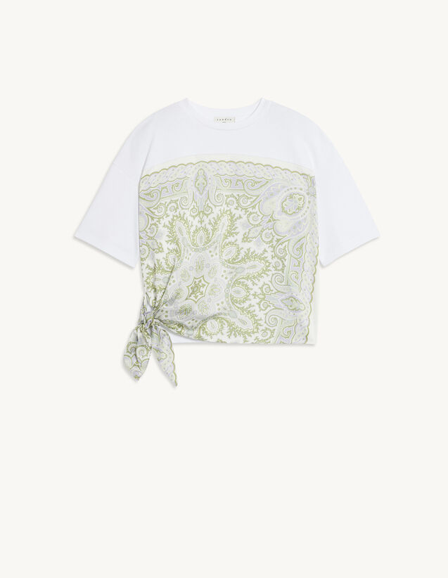 T-Shirt With Printed Insert : T-shirts color white