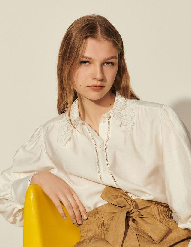 Shirt With Lace Collar : Shirts color Ecru