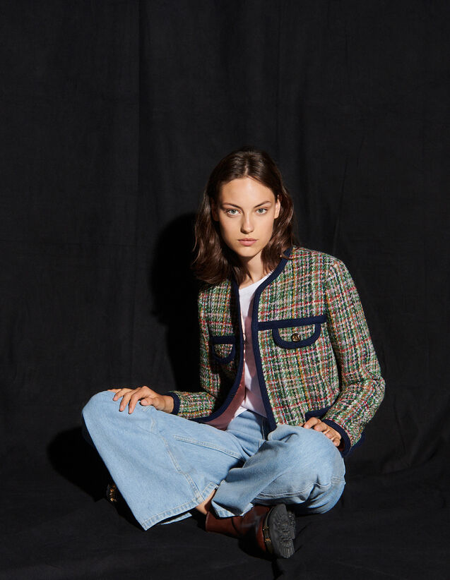 Multicoloured Tweed Jacket : Blazer & Jacket color Multi-Color