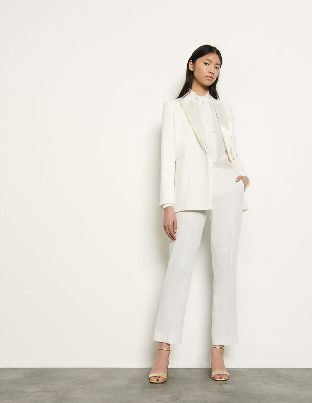 Tailored Trousers : Pants color Ivory