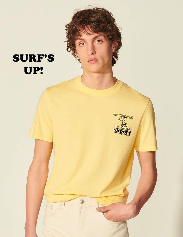 Organic Cotton Snoopy T-Shirt : T-shirts & Polo shirts color Yellow