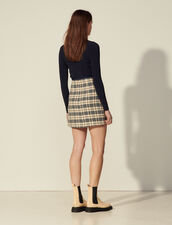 Checked Tweed Skirt : Skirts & Shorts color Navy / Taupe