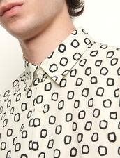 Print Cotton Shirt : Shirts color Ecru