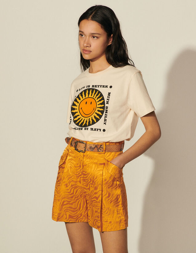 Printed T-Shirt In Organic Cotton : T-shirts color Vanilla