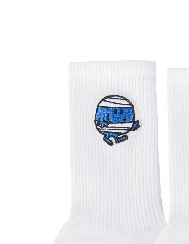 Cotton Socks With Patch : Shoes color white