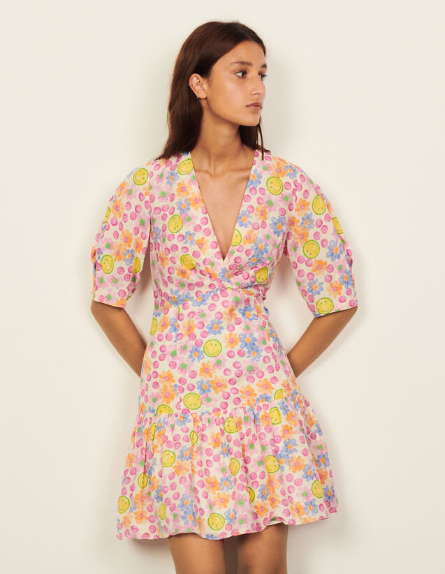 Smiley® Short Dress With Print : Dresses color Pink
