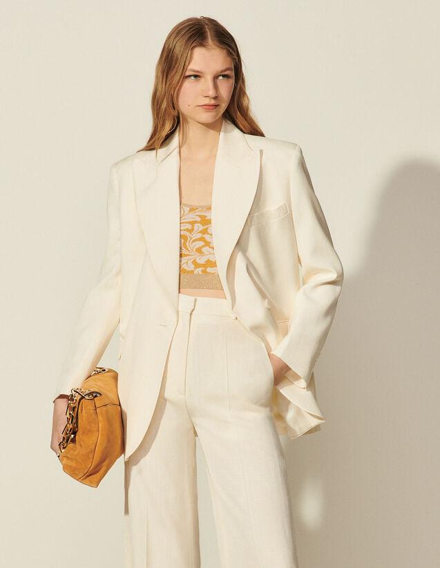 Flowing Tailored Jacket : Blazer & Jacket color Ecru