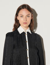 Jacquard Shirt With Inserts : Shirts color Black