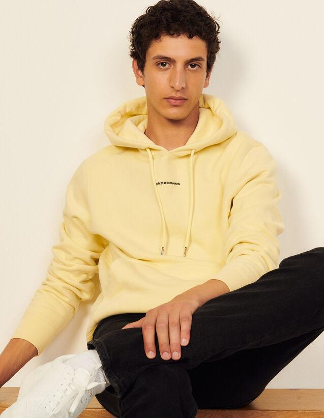 Hoodie Sweatshirt With Logo Embroidery : Sweatshirts color white