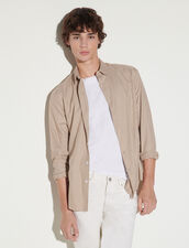 Small Checked Shirt : Shirts color Beige