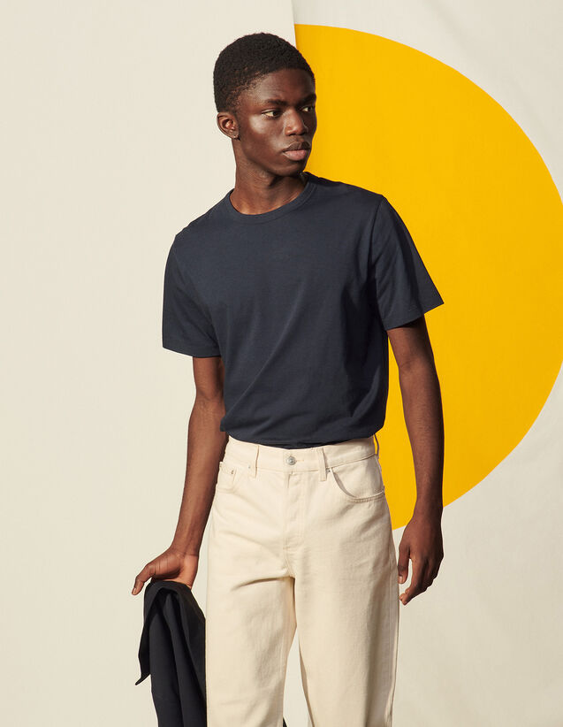 Washed Cotton T-Shirt : T-shirts & Polo shirts color white