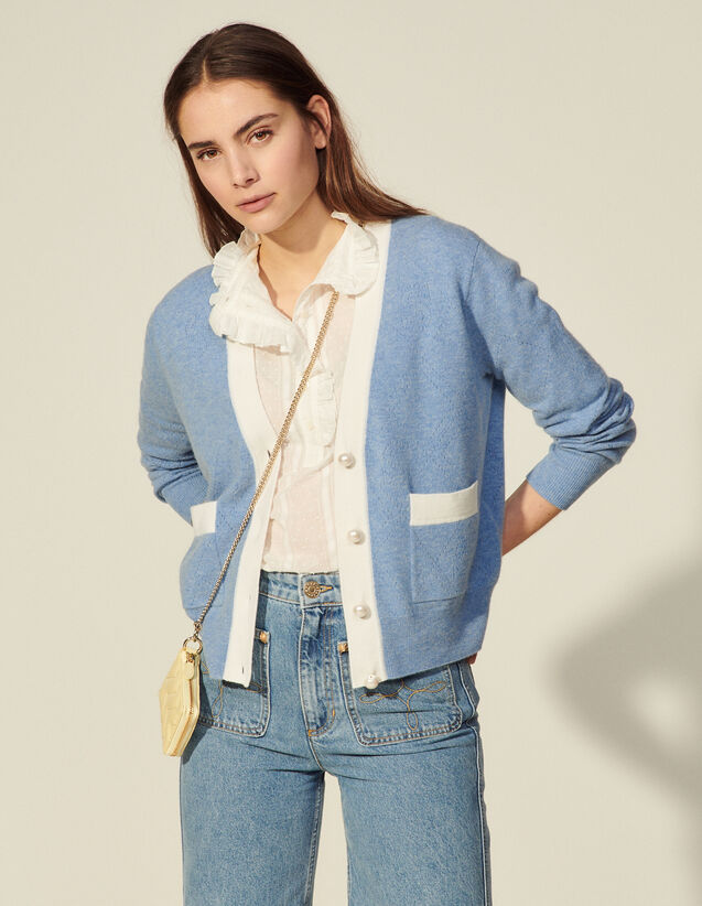 Pointelle Knit Cardigan : Sweaters & Cardigans color Sky Blue