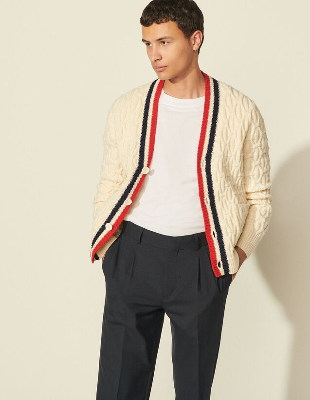 Wool Cardigan : Sweaters & Cardigans color white