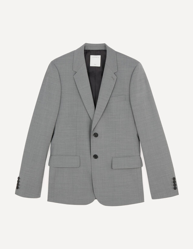 Stretch Suit Jacket : Suits & Tuxedos color Light Grey Mocked