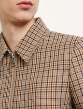 Decorative Checked Jacket : Trench coats & Coats color Beige