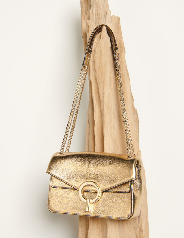 Full Gold Yza Bag, Small Model : -30% color Full Gold