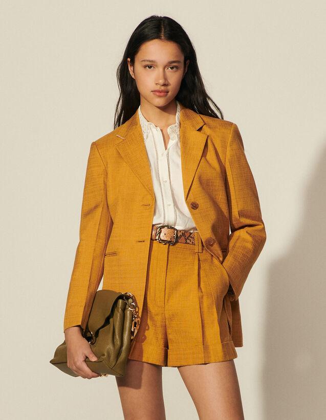 Tailored Jacket : Coats & Jackets color Ochre