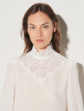 Silk Top With Lace : Tops color Ecru