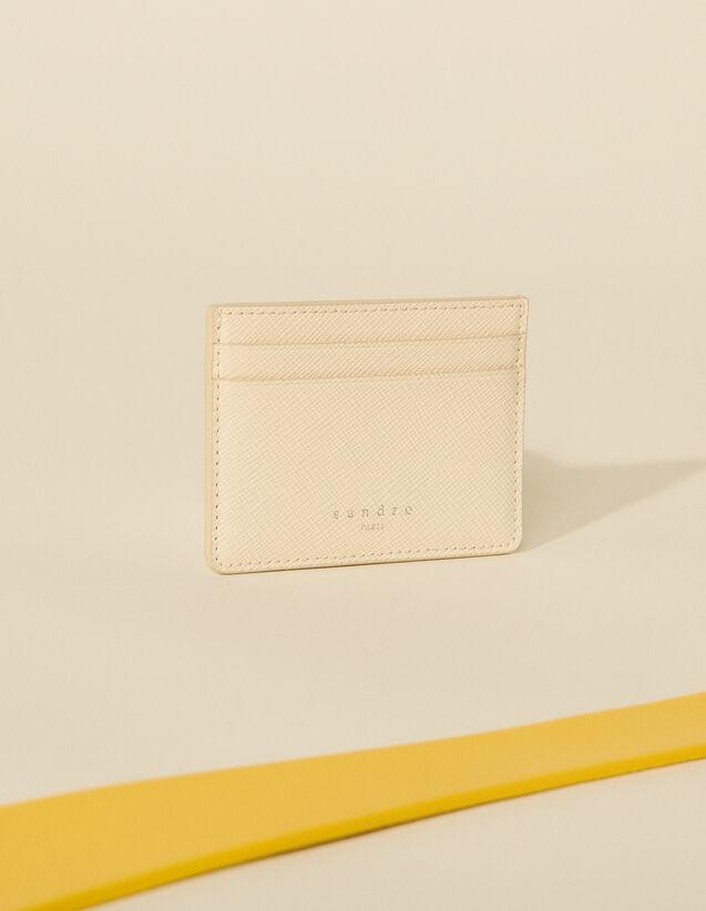 Leather Card Holder : 50%off color Egg shell