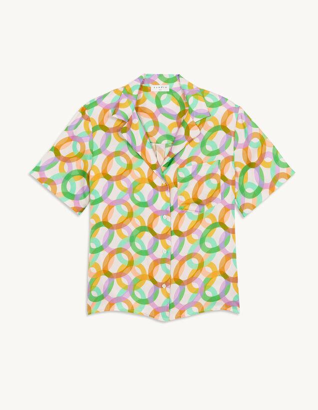 Printed Silk Pyjama Shirt : View All color Green