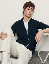 Varsity-Style Cardigan : Sweaters & Cardigans color Black