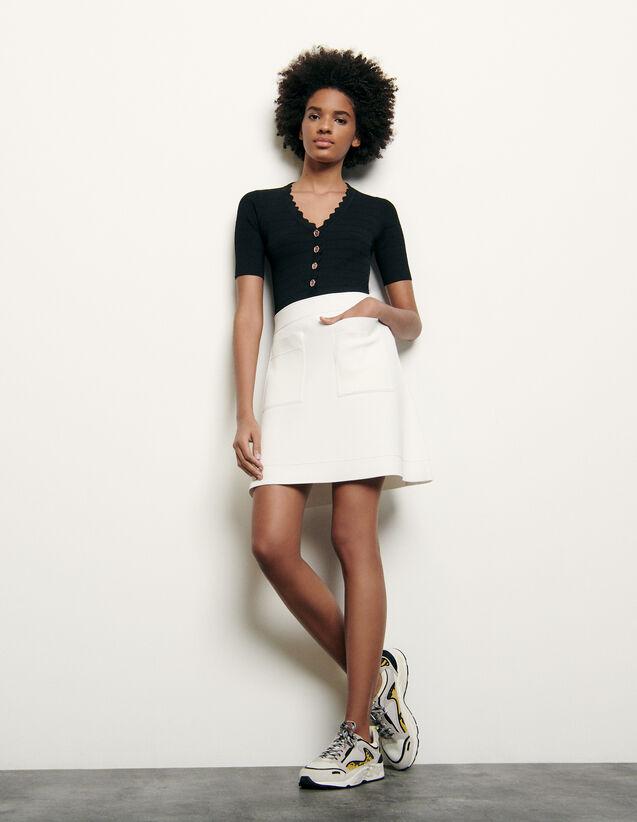 Short Knitted Skirt : Skirts & Shorts color white